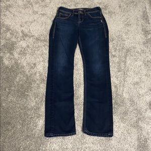 Silver Suki High Straight Super Stretch Jeans